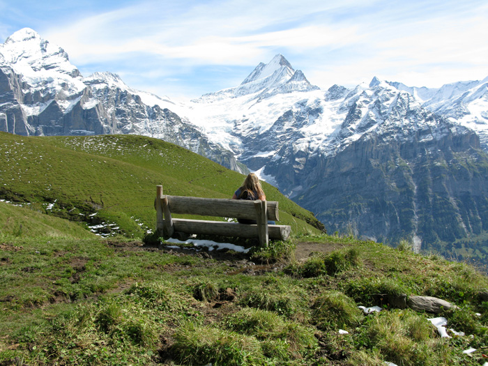 Me, in my favourite place in all the world - Grindelwald.