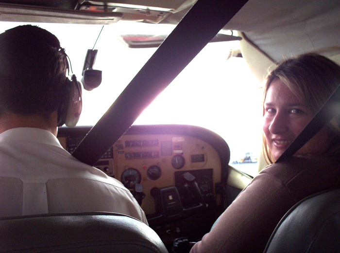 Me on the small plane flying from Lizard Island.