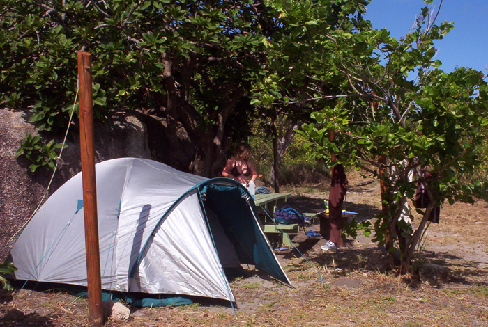 Camping grounds on Lizard Island.