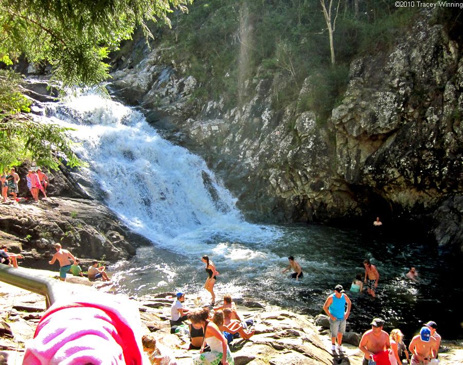 Cedar Creek Falls and rock pools in Mount Tamborine
