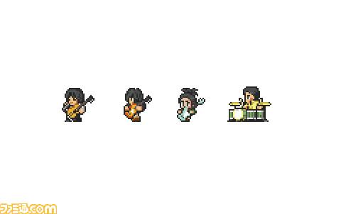 ▲ BUMP OF CHICKEN stylized in pixel art.