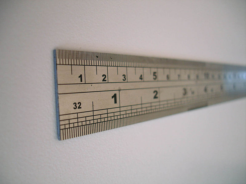 Yep. I put a picture of a ruler in here. From Wikipedia. Thanks, Wikipedia.