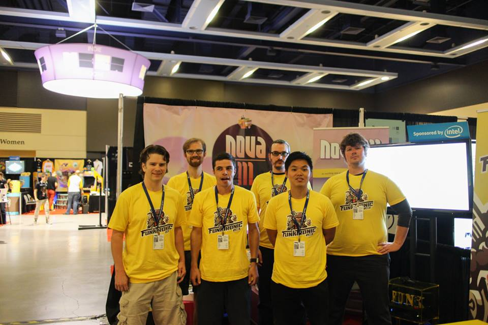 The whole Funktronic booth team. Tim, Todd, Kalin, Me, Eddie, and Tim