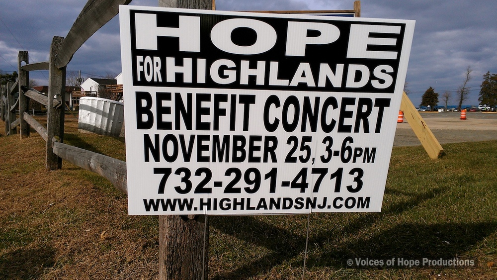Hope For Highlands Concert, Highlands, NJ