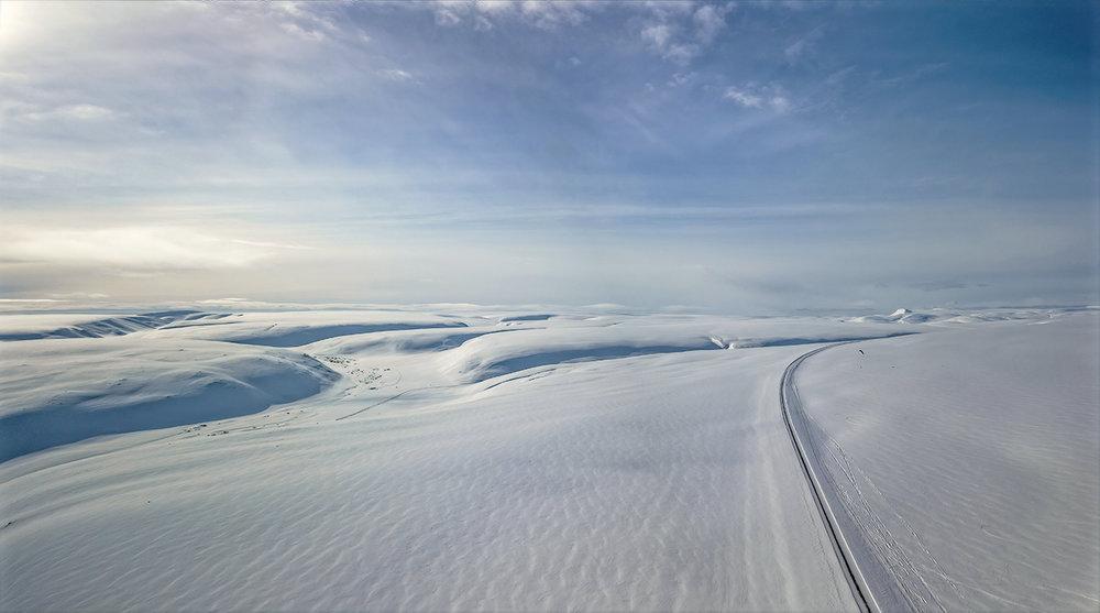 Storkløftfjellet ligger mellom Berlevåg og Båtsfjord på østsiden av Finnmark.