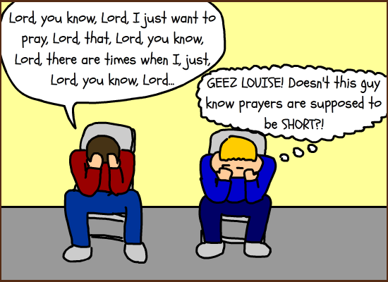 I don't think God would be too upset if we set an egg timer for group prayers, do you?