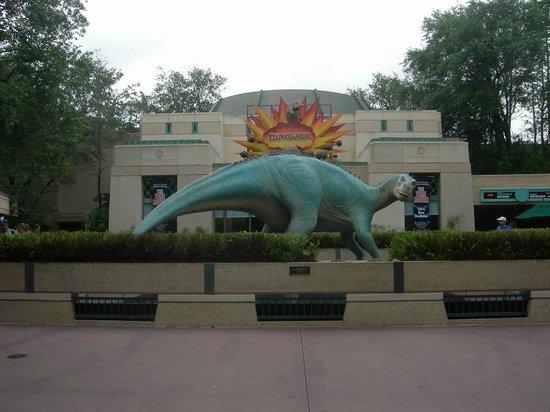 Dinosaur's entrance