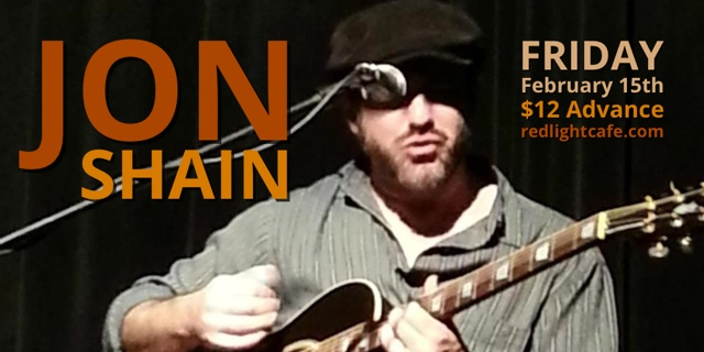 Jon Shain, w/ David Franklin and the Mandolin Sideman – February 15, 2013 – Red Light Café, Atlanta, GA