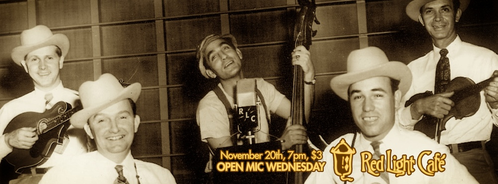 Open Mic Wednesday — November 20, 2013 — Red Light Café, Atlanta, GA