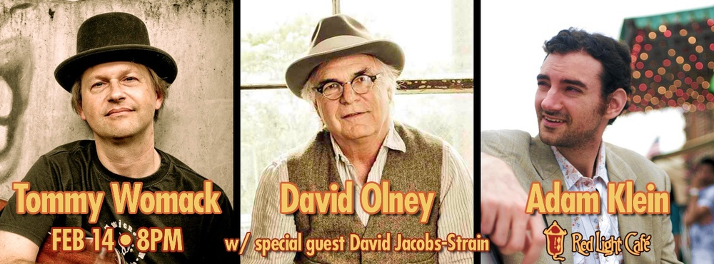 Tommy Womack & David Olney & Adam Klein w/ David Jacobs-Strain — February 14, 2014 — Red Light Café, Atlanta, GA