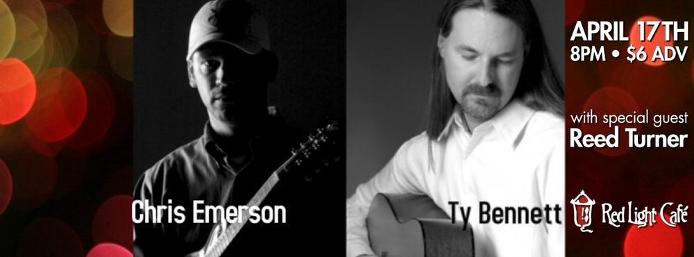 Chris Emerson & Ty Bennett w/ Reed Turner at Red Light Café, Atlanta, GA