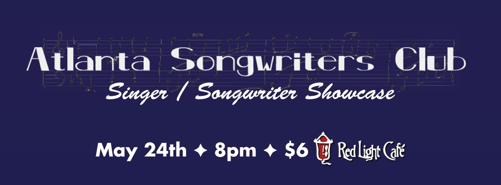 Atlanta Songwriters Club presents: Angela, JimmyLee and Marina — LIVE! — May 24, 2014 — Red Light Café, Atlanta, GA
