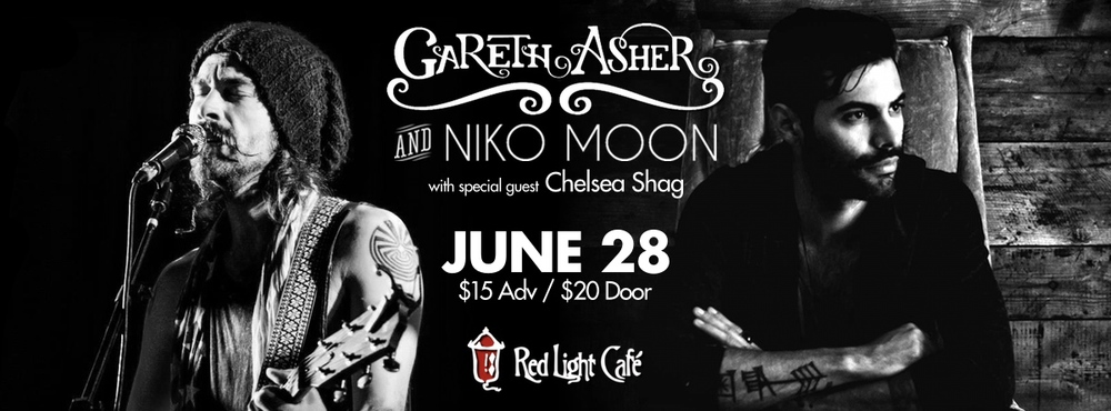 Gareth Asher & Niko Moon w/ special guest Chelsea Shag — June 28, 2014 — Red Light Café, Atlanta, GA