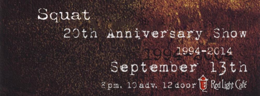 Squat 20th Anniversary Show at Red Light Café, Atlanta, GA