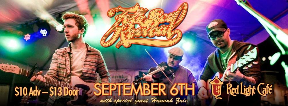 Folk Soul Revival w/ special guest Hannah Zale — September 6, 2014 — Red Light Café, Atlanta, GA