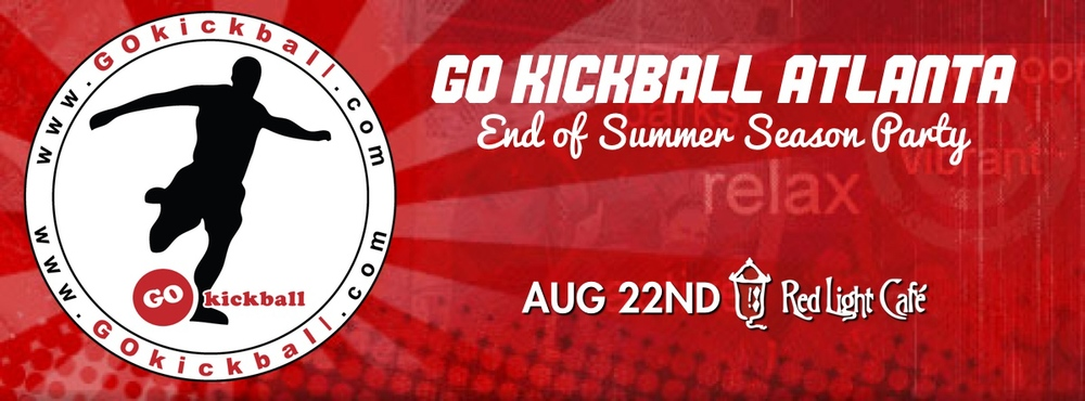 GO Kickball Atlanta End of Season Party — August 22, 2014 — Red Light Café, Atlanta, GA