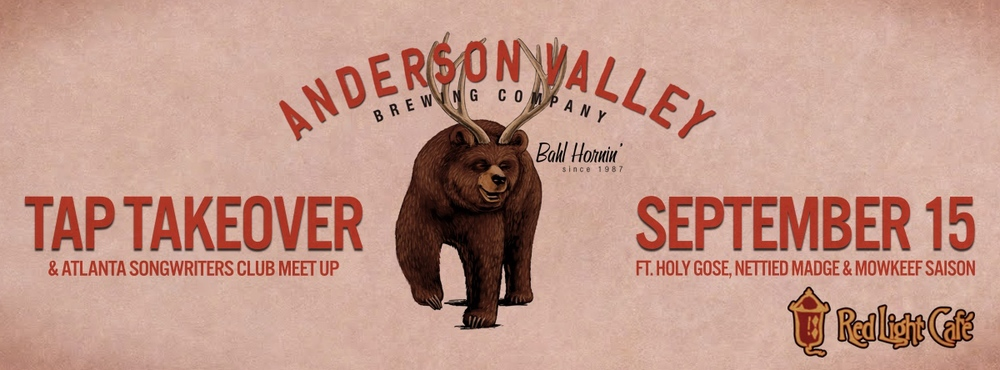 Anderson Valley Tap Takeover @ ATL Songwriters Club — September 15, 2014 — Red Light Café, Atlanta, GA