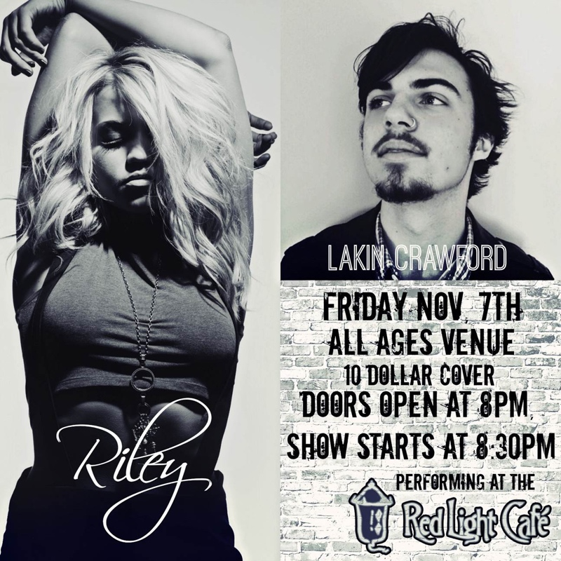 Riley Biederer with Lakin Crawford — November 7, 2014 — Red Light Café, Atlanta, GA