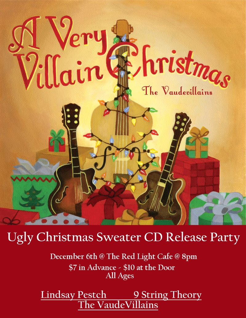 The Vaudevillains w/ 9 String Theory and Lindsay Petsch — December 6, 2014 — Red Light Café, Atlanta, GA