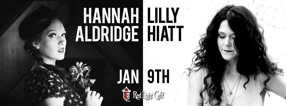 Hannah Aldridge & Lilly Hiatt w/ Sara Rachele + Liz Brasher — January 9, 2015 — Red Light Café, Atlanta, GA