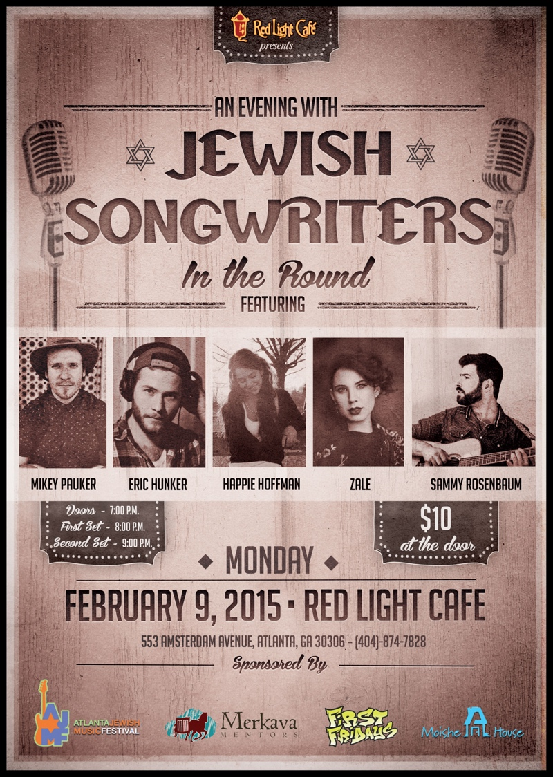 An Evening with Jewish Songwriters — February 9, 2015 — Red Light Café, Atlanta, GA