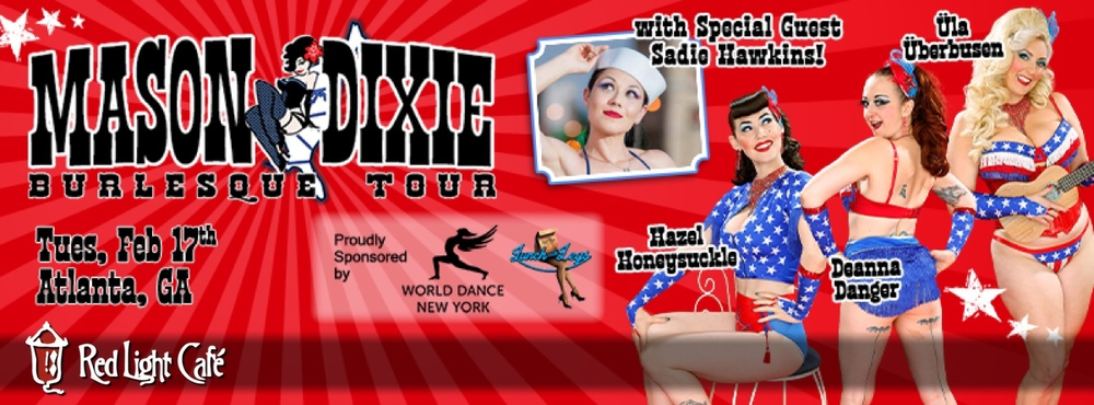 Mason Dixie Burlesque Tour — February 17, 2015 — Red Light Café, Atlanta, GA