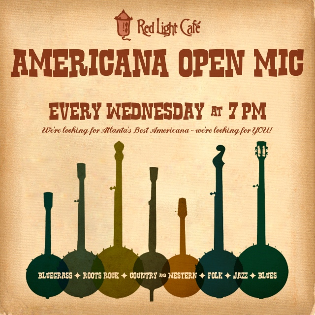 Americana Open Mic — April 8, 2015 — Red Light Café, Atlanta, GA