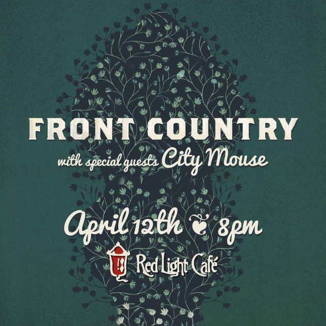 Front Country w/ City Mouse — April 12, 2015 — Red Light Café, Atlanta, GA