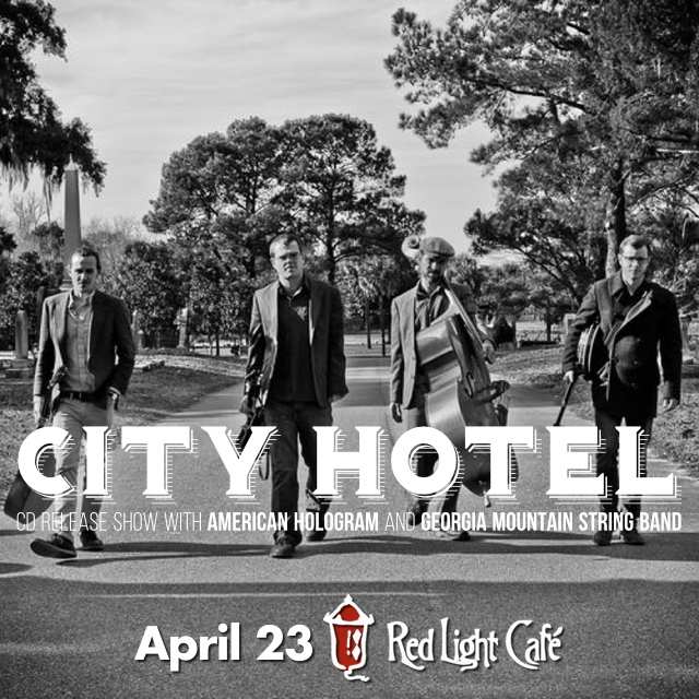 City Hotel with American Hologram and Georgia Mountain String Band — April 23, 2015 — Red Light Café, Atlanta, GA