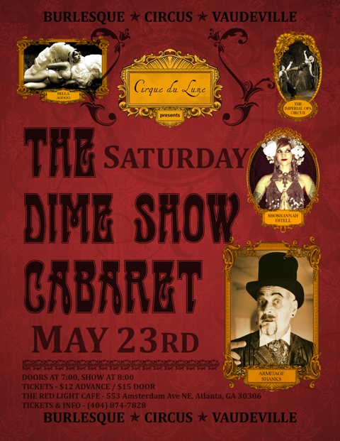 The Dime Show Cabaret — May 23, 2015 — Red Light Café, Atlanta, GA