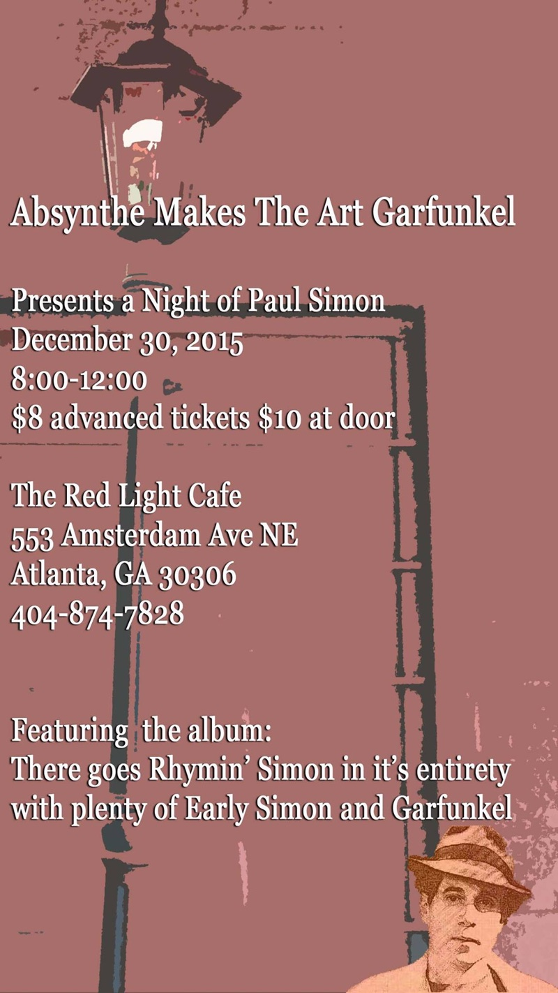 Absynthe Makes the Art Garfunkel: Fourth Anniversary Show — December 30, 2015 — Red Light Café, Atlanta, GA