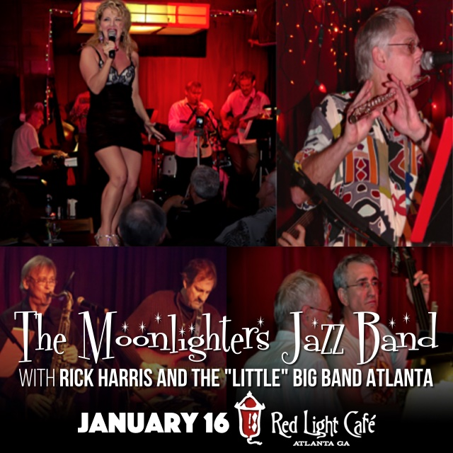 The Moonlighters Jazz Band + Rick Harris and the 'Little' Big Band Atlanta — January 16, 2016 — Red Light Café, Atlanta, GA