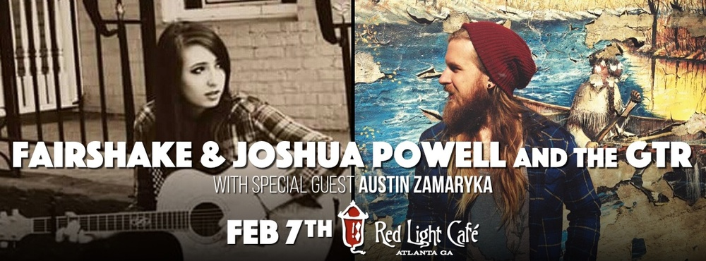 Fairshake + Joshua Powell & the Great Train Robbery w/ Austin Zamaryka — February 7, 2016 — Red Light Café, Atlanta, GA