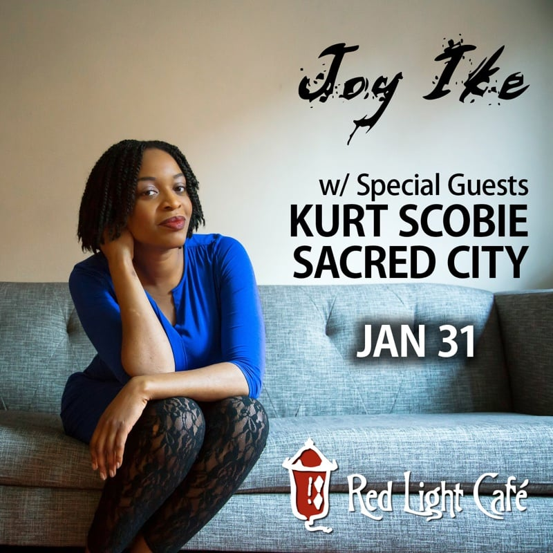 Joy Ike w/ Sacred City & Kurt Scobie — January 31, 2016 — Red Light Café, Atlanta, GA