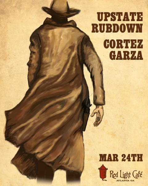 Upstate Rubdown + Cortez Garza — March 24, 2016 — Red Light Café, Atlanta, GA