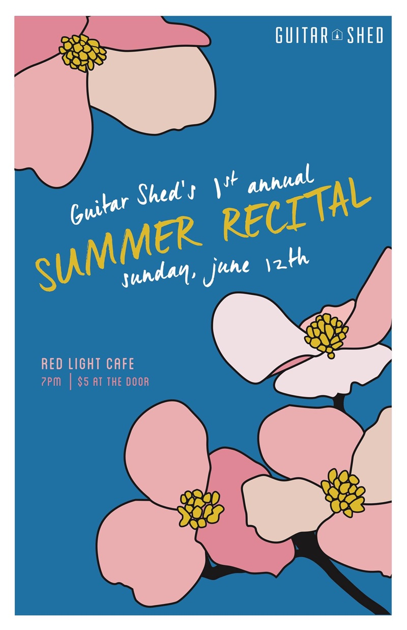 Guitar Shed's First Annual Summer Recital — June 12, 2016 — Red Light Café, Atlanta, GA