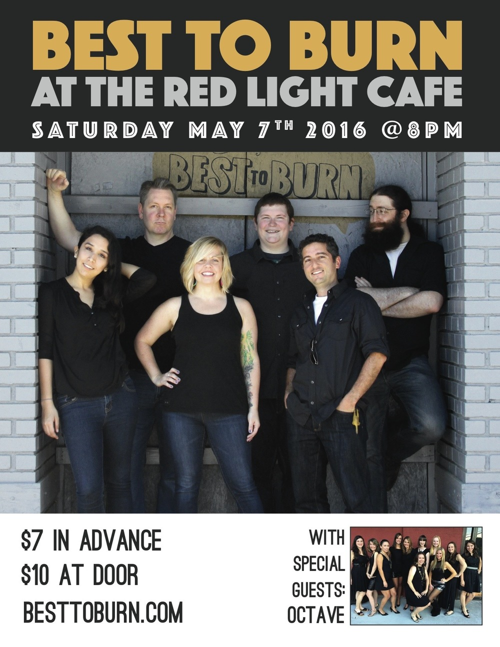 Best to Burn w/ Octave: An Evening of A Cappella — May 7, 2016 — Red Light Café, Atlanta, GA