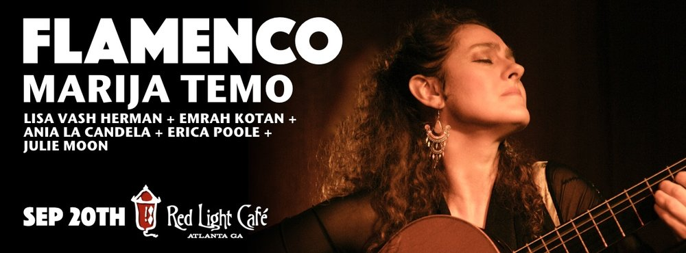 FLAMENCO w/ Marija Temo, Lisa Vash Herman, Emrah Kotan, Ania La Candela, Erica Poole, Julie Moon — September 20, 2016 — Red Light Café, Atlanta, GA