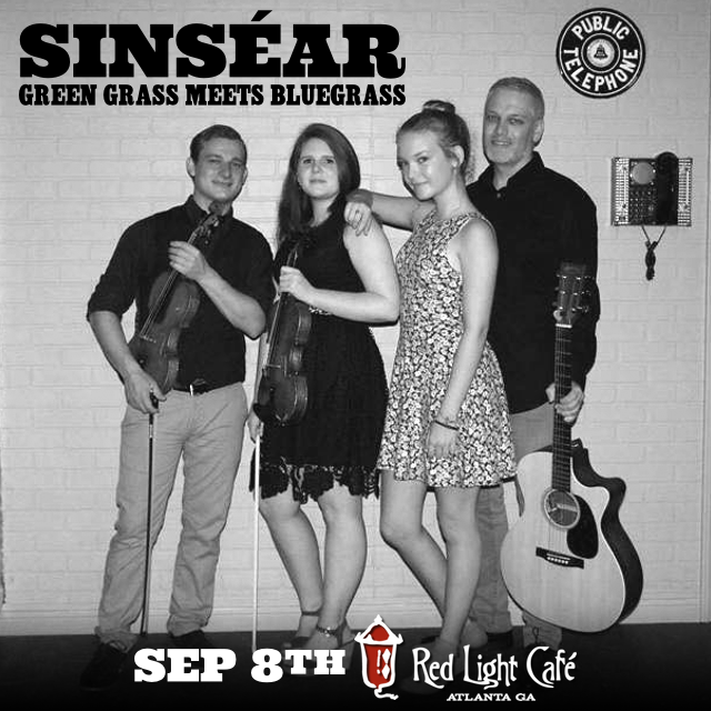 Sinséar: Green Grass Meets Bluegrass — September 8, 2016 — Red Light Café, Atlanta, GA