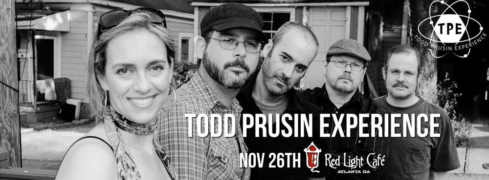 Todd Prusin Experience — November 26, 2016 — Red Light Café, Atlanta, GA