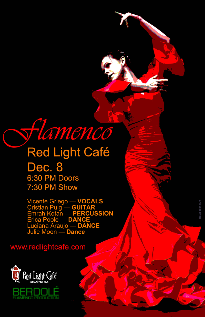 Flamenco feat. Vicente Griego + Cristian Puig + Emrah Kotan + Julie Moon + Luciana Araujo — December 8, 2016 — Red Light Café, Atlanta, GA