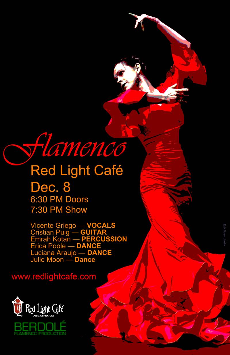 Flamenco feat. Vicente Griego + Cristian Puig + Emrah Kotan + Julie Moon + Luciana Araujo — December 8, 2016 — Red Light Café, Atlanta, GA