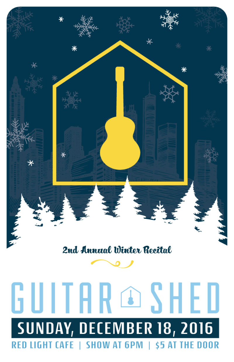 Guitar Shed's Second Annual Winter Recital — December 18, 2016 — Red Light Café, Atlanta, GA