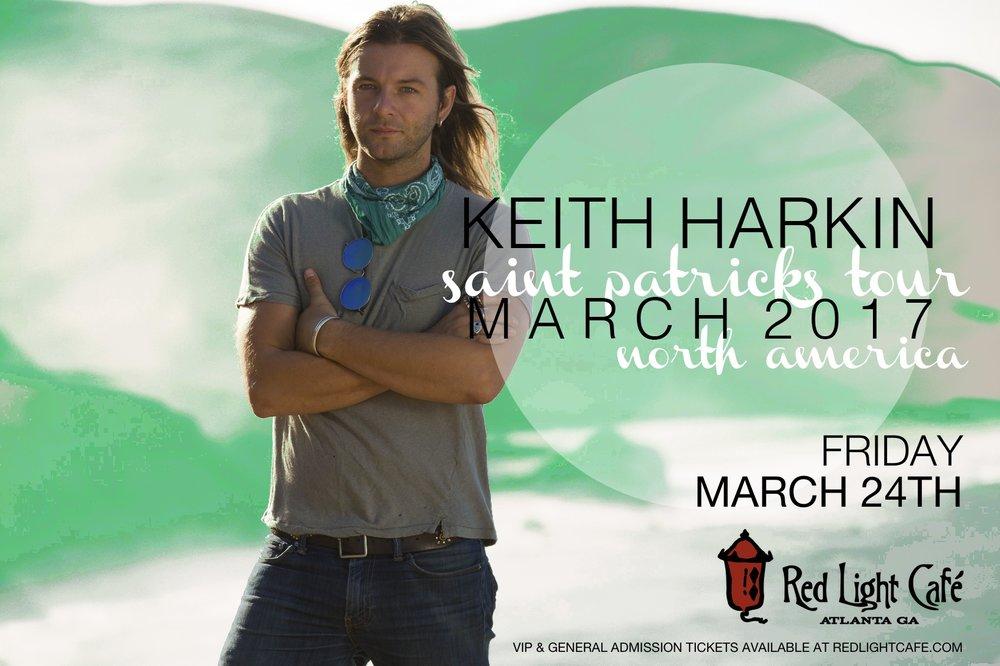 An Intimate Evening with Keith Harkin — March 24, 2017 — Red Light Café, Atlanta, GA
