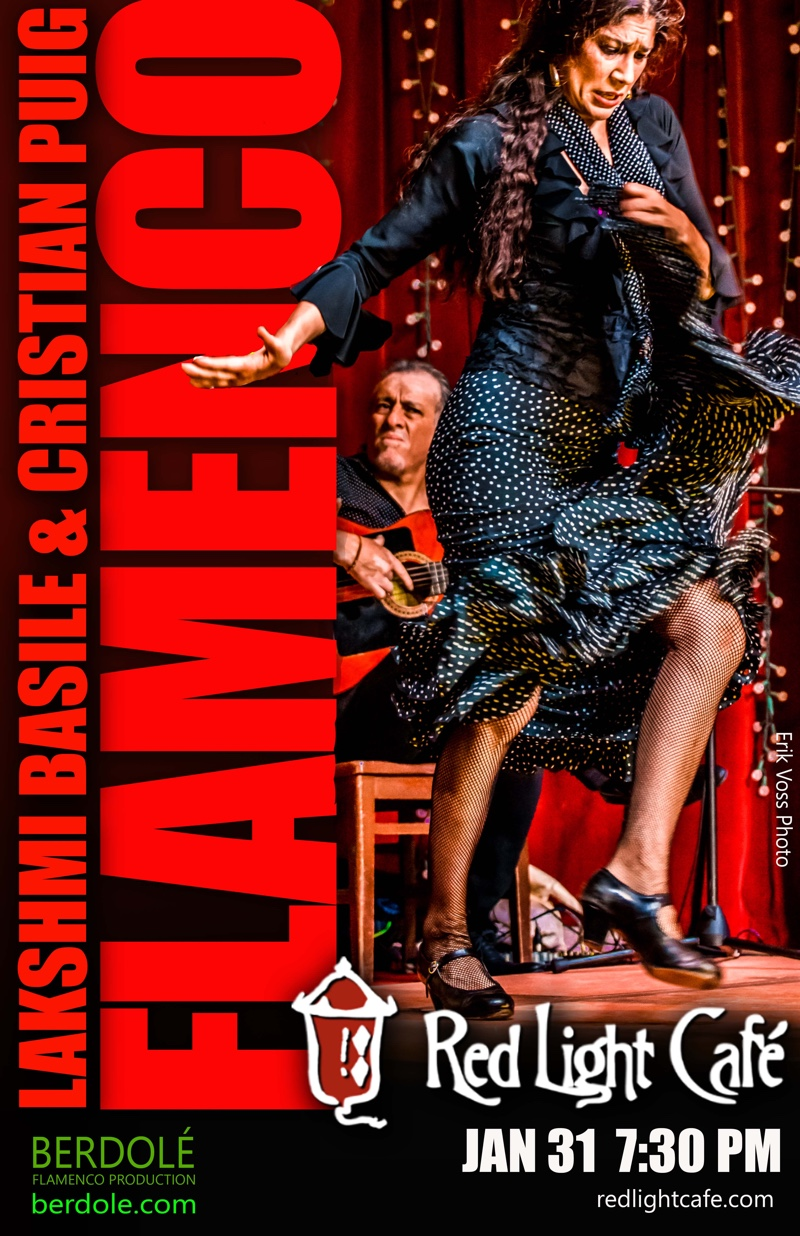 Flamenco feat. Lakshmi Basile + Cristian Puig + Julie Moon — January 31, 2017 — Red Light Café, Atlanta, GA