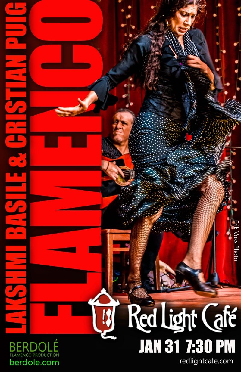 Flamenco feat. Lakshmi Basile + Cristian Puig + Julie Moon — January 31, 2017 — Red Light Café, Atlanta, GA