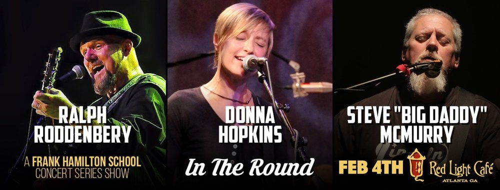 Ralph Roddenbery, Donna Hopkins & Steve 'Big Daddy' McMurry — February 4, 2017 — Red Light Café, Atlanta, GA