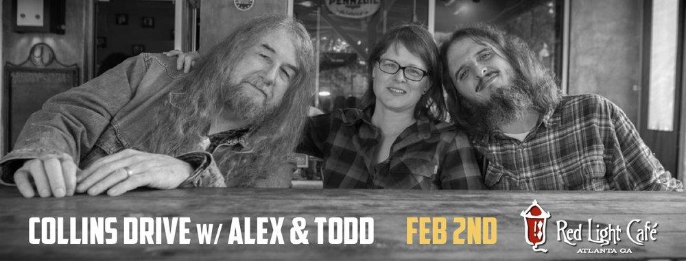 Collins Drive w/ Alex & Todd — February 2, 2017 — Red Light Café, Atlanta, GA