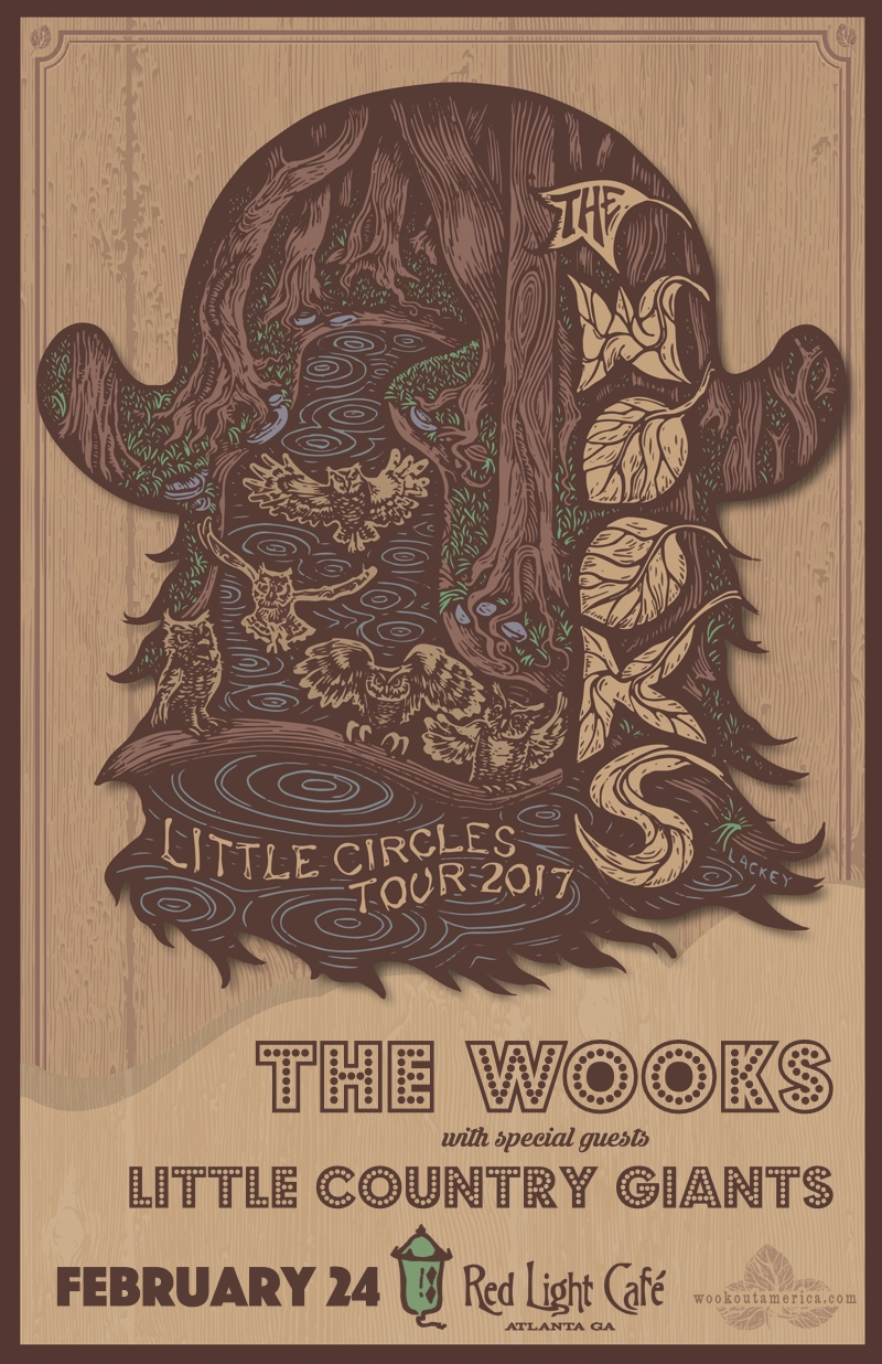 The Wooks w/ Little Country Giants — February 24, 2017 — Red Light Café, Atlanta, GA