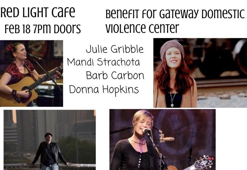 Julie Gribble, Mandi Strachota, Barb Carbon, Donna Hopkins: Benefit for Gateway Domestic Violence Center — February 18, 2017 — Red Light Café, Atlanta, GA